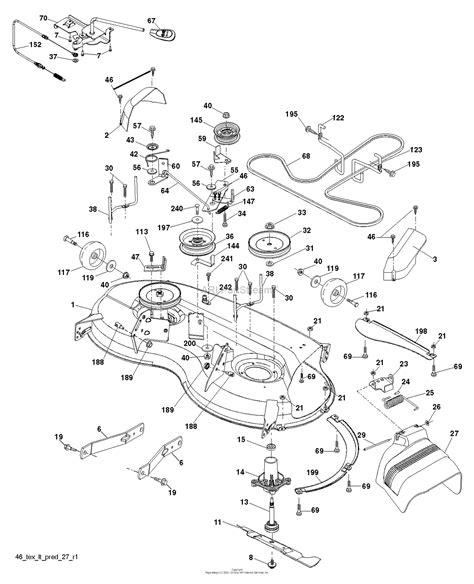 Deck Part Diagram by Husqvarna Yth20k46 240464 2012 11 Parts Diagram For