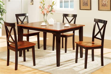 5 dining room set with bench 5 two tone dining set includes chairs huntington