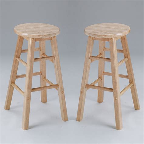 metro  bar stool barstool natural  wooden seat