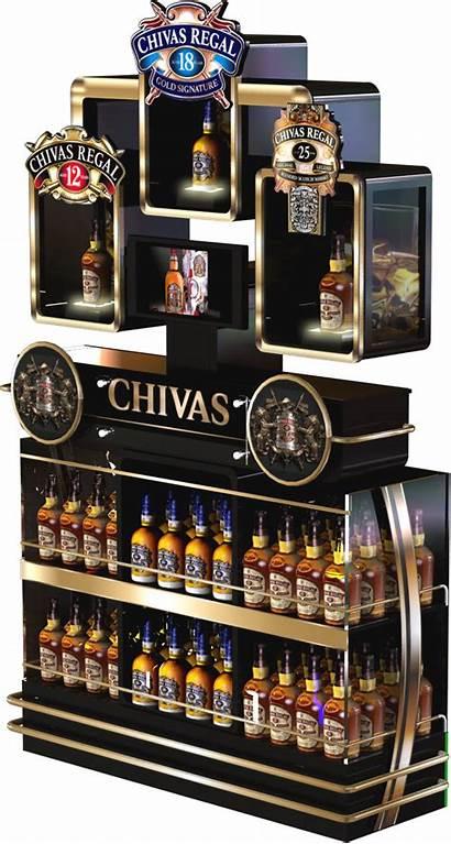 Display Chivas Ricard Pernod Pop Pos Stand