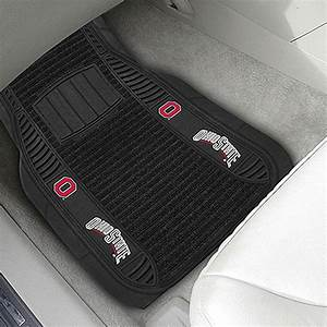 fanmatsr 13496 1st row black deluxe vinyl car mats with With ohio state floor mats