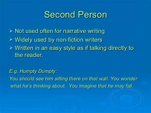 How to write in 2nd person