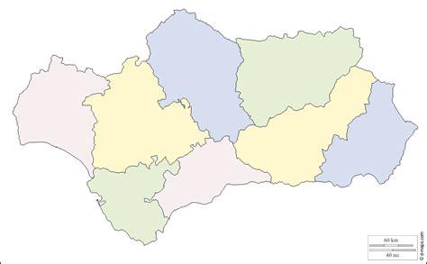 Mapa Andalucia Mudo