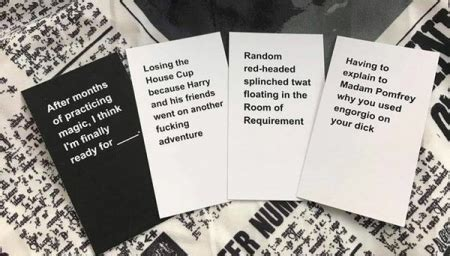 harry potter fans release wickedly hilarious cards