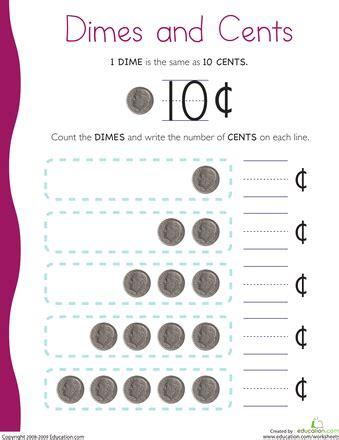 counting dimes homeschool math kindergarten math