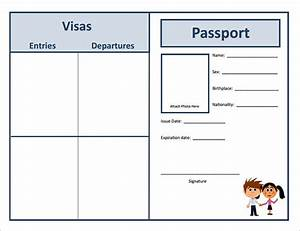 passport template 19 free word pdf psd illustrator With fun passport template