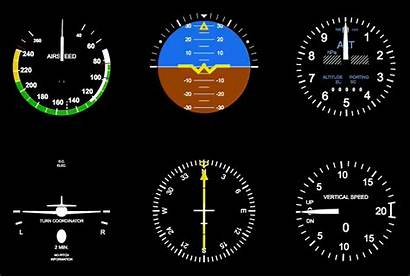 Cockpit Flight Glass Gauges Simulator Instruments Gauge