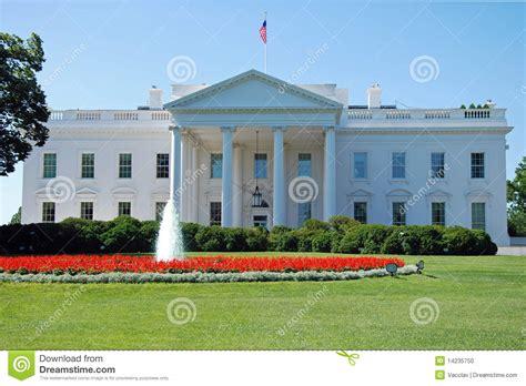 het witte huis in amerika het witte huis in washington dc stock foto afbeelding