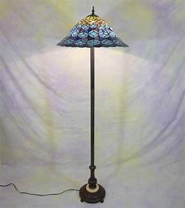Peacock tiffany style floor lamp art deco tiffany for Tiffany inspired floor lamp