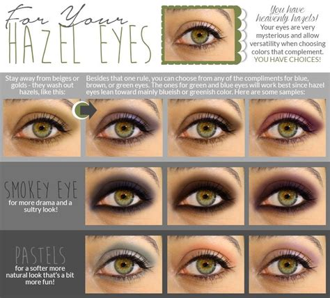 eyeshadow colors for hazel pin by middleton on make up eye colors