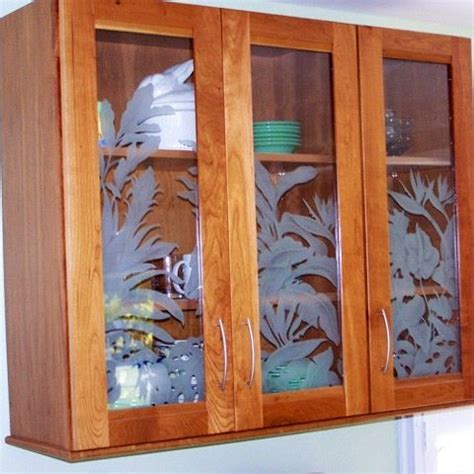 glass etching designs for kitchen etched glass kitchen cabinets and glasses on 6820