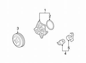 Cadillac Sts Engine Water Pump Pulley  4 4 Liter  4 6