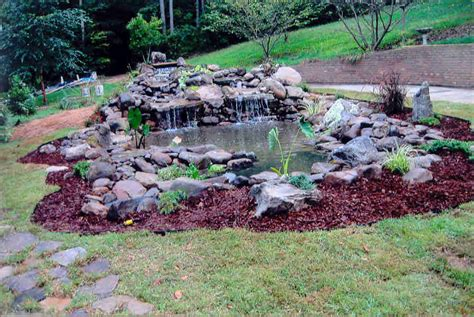 outdoor pond waterfalls waterfall ideas on pinterest ponds garden waterfall and water features
