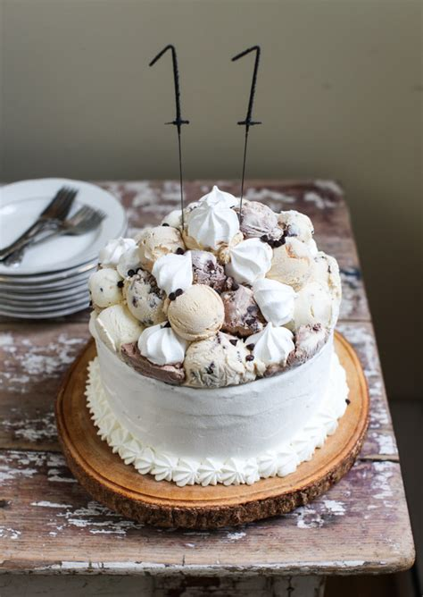meringue topping meringue topped layered ice cream birthday cake simple bites