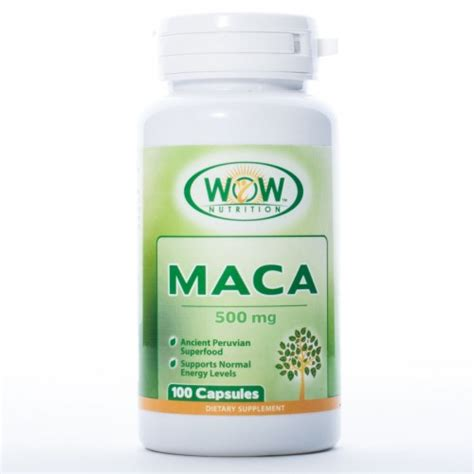 organic maca supplements pills root capsules or extract