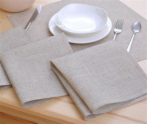 8pcs Cloth Table Napkin Linen Hotel Napkin Western Dinner