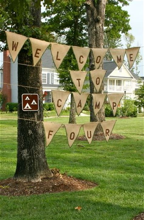 ideas  camping party decorations  pinterest