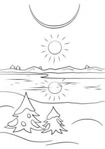 winter solstice coloring page  printable coloring pages