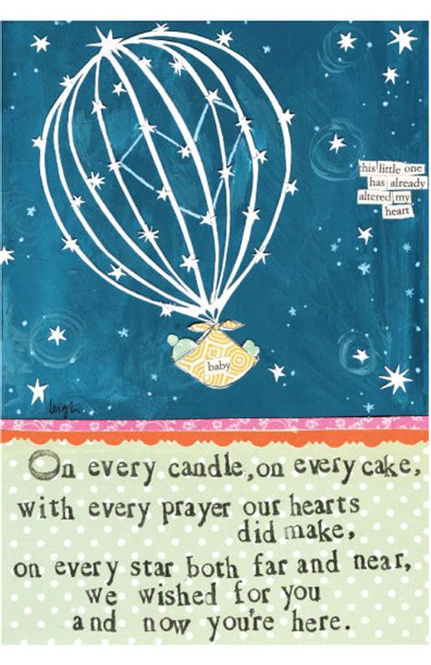 wished    baby card curly girl design card karenza paperie