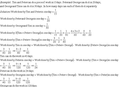 problems  time  work iii grade  mathematics