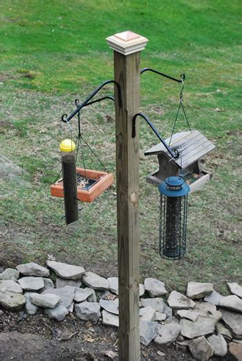 install a post for feeding the birds matt and shari