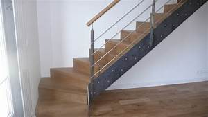 revgercom escalier moderne avec contremarche idee With peindre des escaliers en bois 2 mev sprl escaliers droits classiques