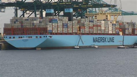 flandreinfo be anvers accueille le plus grand porte conteneurs au monde