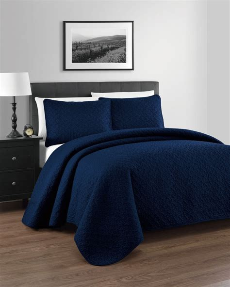 Navy Coverlet by Navy Bedding And Navy Quilts Ease Bedding With Style
