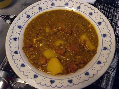 lentilles cuisiner recette de lentilles espagnoles lentejas con chorizo
