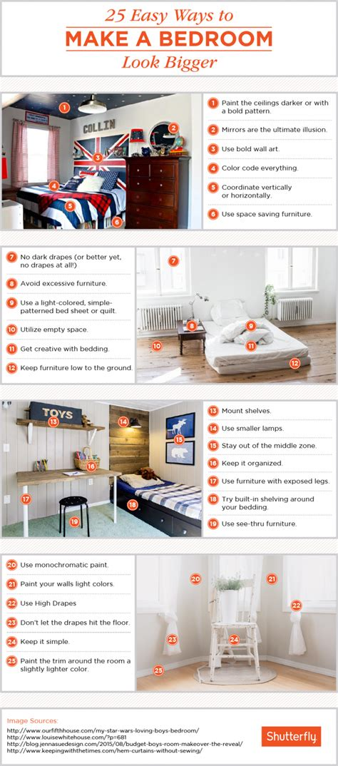 How To Make Your Bedroom Look Bigger by 25 Ways To Make A Small Bedroom Look Bigger Shutterfly