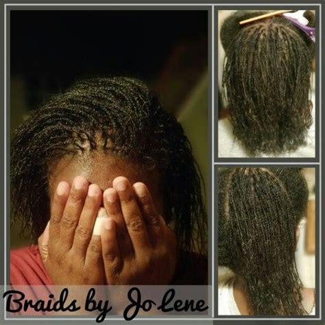 starter micro locs jo lene gentle braids natural hair