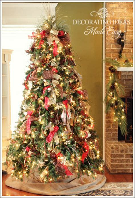 how to decorate a tree with only ribbon and