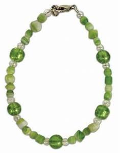 Lime Green Stone Chip Bracelet