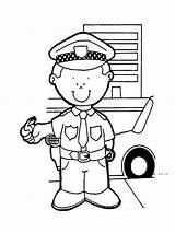 Police Coloring Officer Pages Printable Boys Activities Recommended Books Drawing Mycoloring sketch template