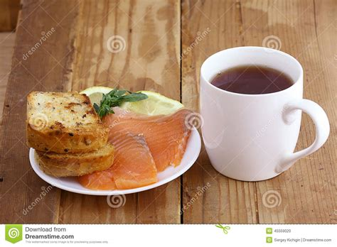 wooden salad breakfast tea sandwich with stock photo image 45559020