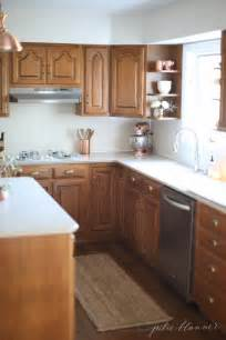 updated kitchen ideas 5 ideas update oak cabinets without a drop of paint