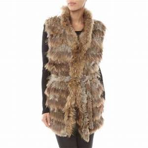Manteau Fourrure Sans Manche : veste femme sans manche fausse fourrure ~ Dallasstarsshop.com Idées de Décoration