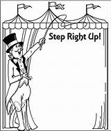 Carnival Clip Circus Printable Coloring Clown Clipart Pages Clipartix Ticket Border Booth Theme College Cliparting Crafts Sketch Sketchite Cards Journal sketch template