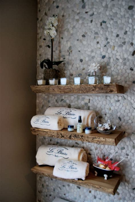Reclaimed Solid Wood Live Edge Slab Shelves   Contemporary