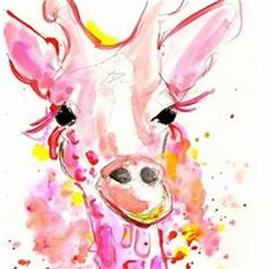 1000 images about Watercolor Giraffe on Pinterest