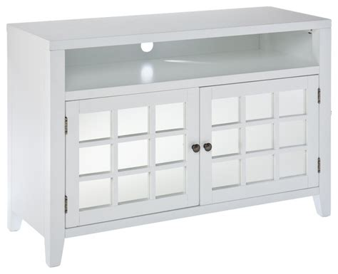 white tv stand with storage contemporary entertainmen room ideas with mirrored 1880