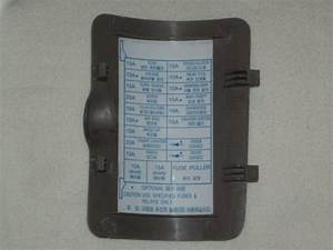 Find Daewoo Nubira Inside Fuse Box Cover Beige With Free S