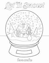 Coloring Snow Globe Let Neve Globo Printable Adult Globes Desenho Favecrafts Adults Snowman Snowflake Origamiami Welcome sketch template