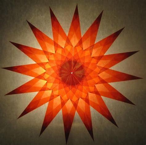 Weihnachsstern 5 Deko Bastelideen by Roter Aus Transparentpapier Falten Sterne