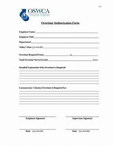 Free 14  Overtime Authorization Forms In Excel