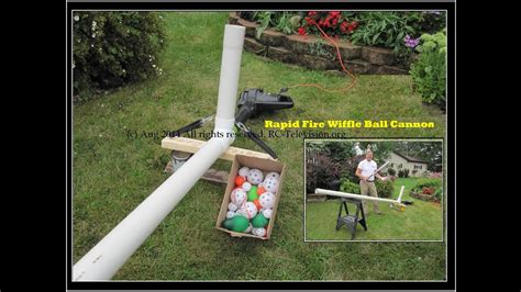 rapid fire wiffle ball cannon pitches water balloons