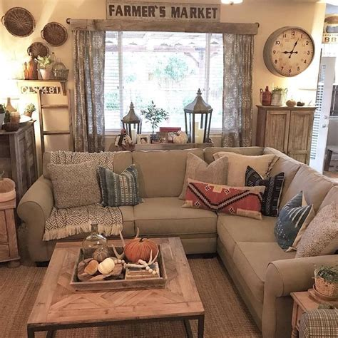 SImple Rustic Farmhouse Living Room Decor Ideas35