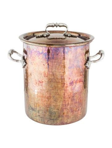 ruffoni hammered copper stock pot tabletop  kitchen cookw  realreal