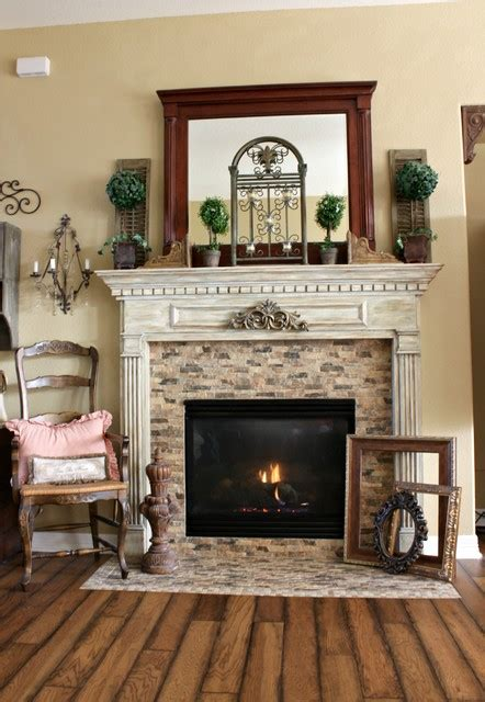 french country fireplace traditional living room houston
