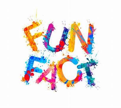 Fun Fact Vector Inscription Lettrers Splash Paint
